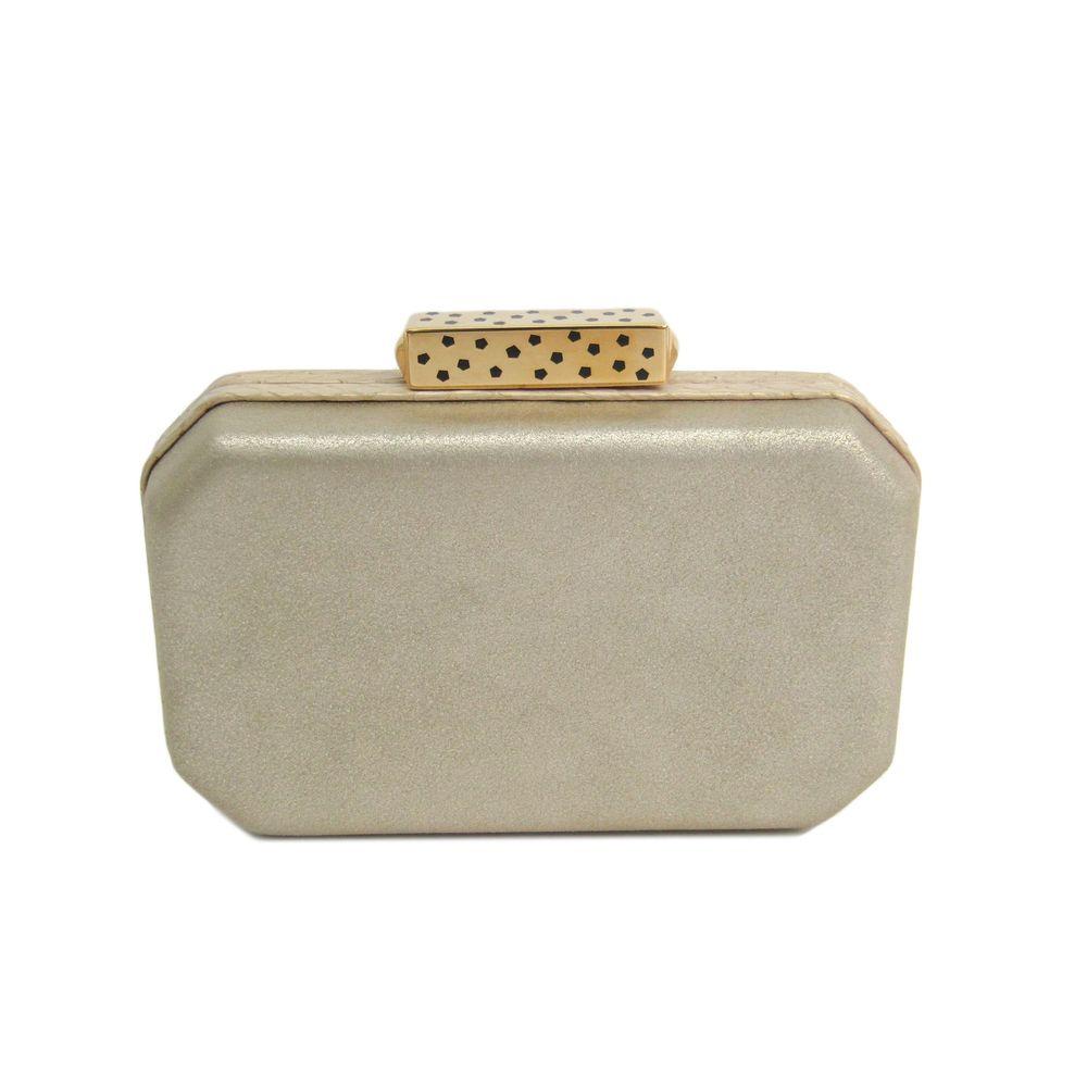 Cartier clutch bag Calfskin / Snake skin gold L1001497