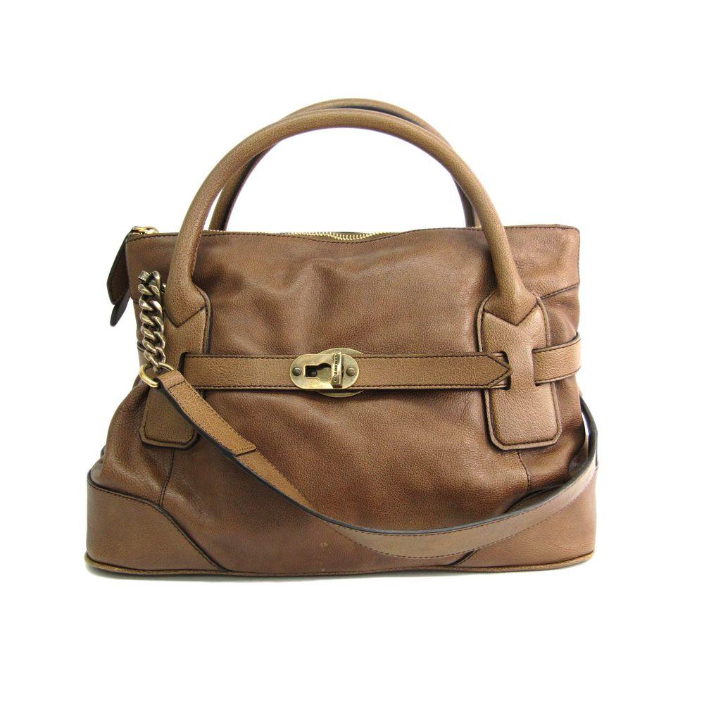 Burberry Hand bag Leather Brown 3763767