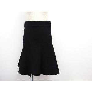 DKNY スカート ウールxナイロンxアンゴラ ブラック 2