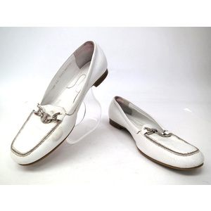 BALLY LOAFER LEATHER WHITE 36 1/2