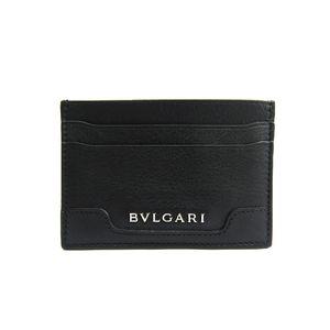 ブルガリ(Bvlgari) ブルガリ カードケース カーフスキン ブラック 33404