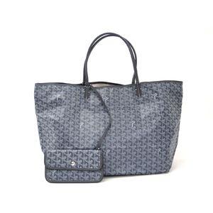 GOYARD Saint Louis GM Tote Bag Canvas/Leather Gray