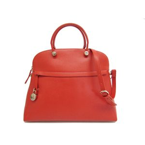 FURLA Piper L Hand bag Leather Red