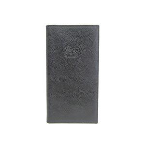 イル・ビゾンテ(Il Bisonte) イルビゾンテ 二つ折り長財布 レザー ブラック