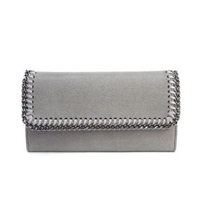 Stella McCartney Fallabera Continental Flap Wallet Polyester Gray