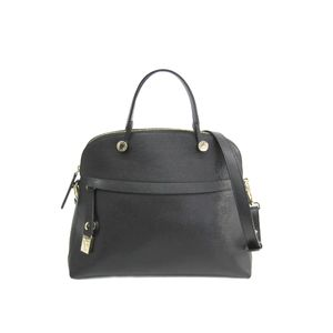 FURLA Piper M Hand bag Leather Black