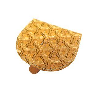 GOYARD Raspail Coin Case Canvas/Leather Yellow APM114