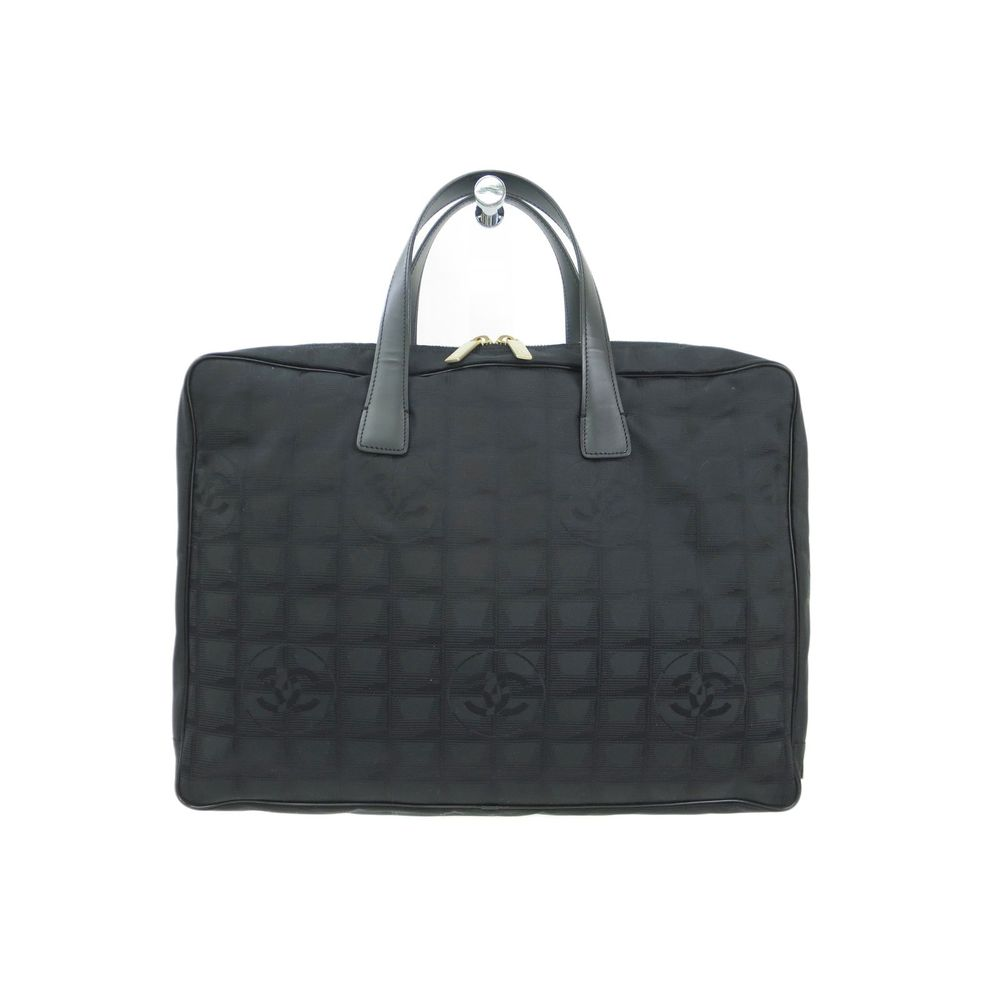 Chanel Briefcase New Travel Line Nylon / Leather Black