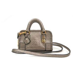 LOEWE Mini Mini Amazona Hand bag Goatskin Bronze