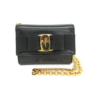 Salvatore Ferragamo Clutch/Party Bag Vara Leather Black AQ213202
