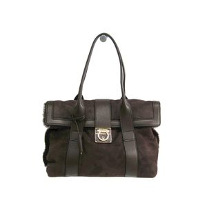 Salvatore Ferragamo Sookie Bag Mouton/Leather Brown EZ-21 E781