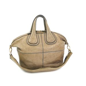 GIVENCHY Nightingale Small Hand bag Calfskin Beige