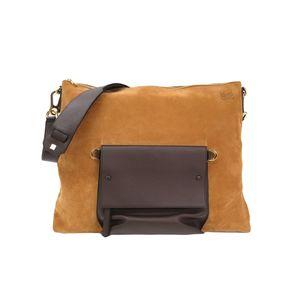 LOEWE Shoulder Bag Nubuck/Nappa Leather Brown/Dark Brown