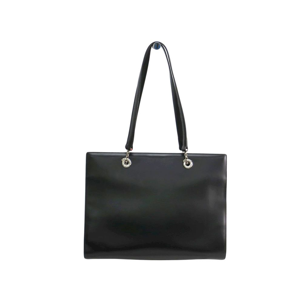 Cartier Tote Bag Panthere Calf Leather Black/Silver
