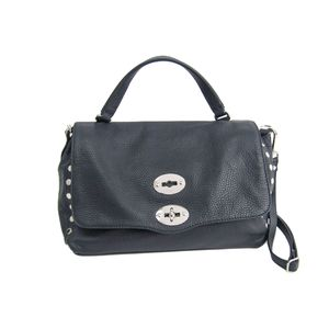ZANELLATO Postina S Hand bag Calfskin Leather Navy