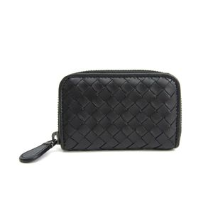 BOTTEGA VENETA Coin Purse/Case Intrecciato Calfskin Black 114075