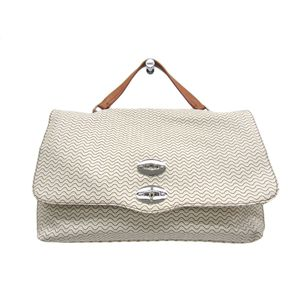 ZANELLATO Postina M+ Hand bag PVC/Leather PERGAMENABeige