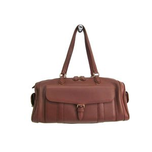 MORABITO Boston Bag Calfskin Leather Brown
