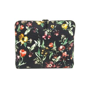 Phillip Lim Clutch Bag Flower Canvas/Leather Black