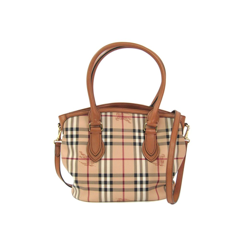 83658a3e0a8d Burberry HAYMARKET COLORS SMALL NEWFIELD TOTE tote bag PVC   leather TAN  (beige) 3860926