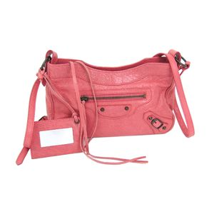 BALENCIAGA The Hip Shoulder Bag Lambskin Leather Pink 242803