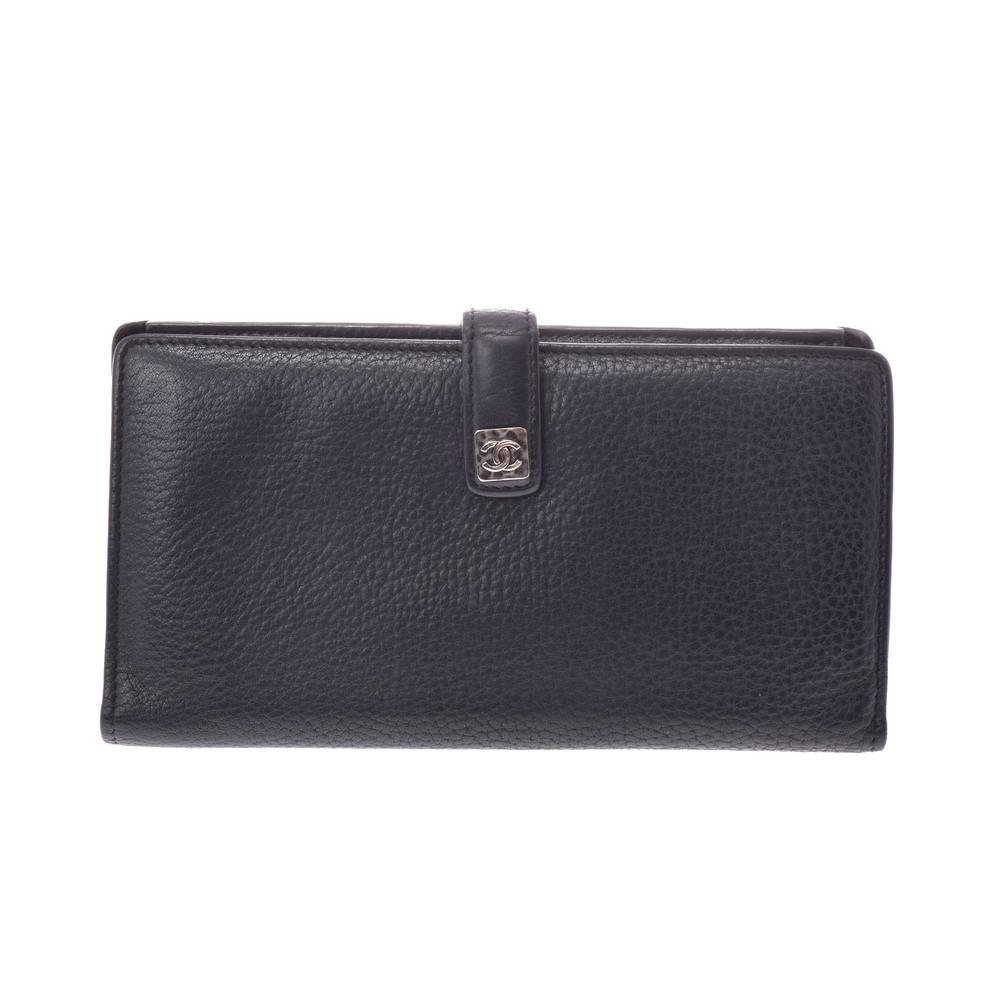 uk availability c6e70 47db3 シャネル(Chanel) レザー 財布 ブラック | elady.com