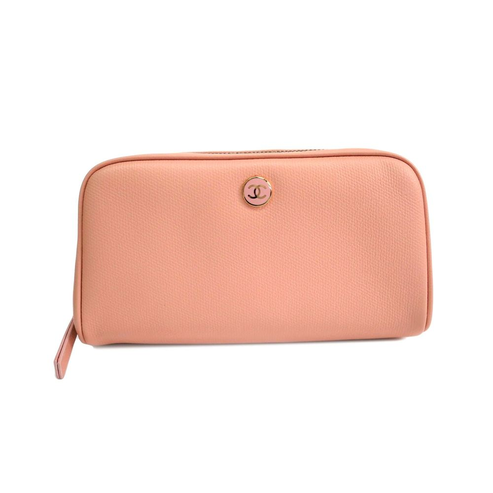 CHANEL Pouch Coco Bottom Calfskin Pink A20913
