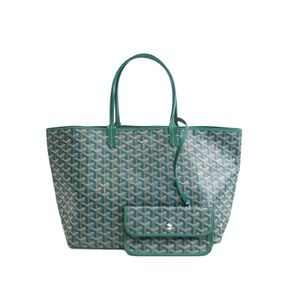 GOYARD Saint Louis PM Tote Bag Canvas/Leather Green