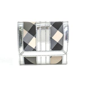 Burberry W Hock Wallet Nylon/Leather Black/Silver