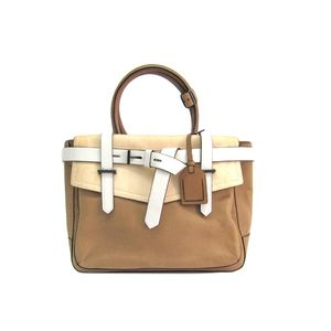 REED KRAKOFF Boxer Hand bag Leather Beige/White
