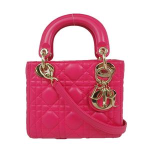クリスチャン・ディオール(Christian Dior) レディディオール ハンドバッグ ショルダーバッグ ピンク