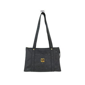 MCM Shoulder Bag Visetos PVC Black