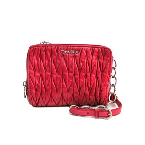 MIU MIU Matelasse Chain Shoulder Bag MATELASSE'LUX PEONIA RT0531