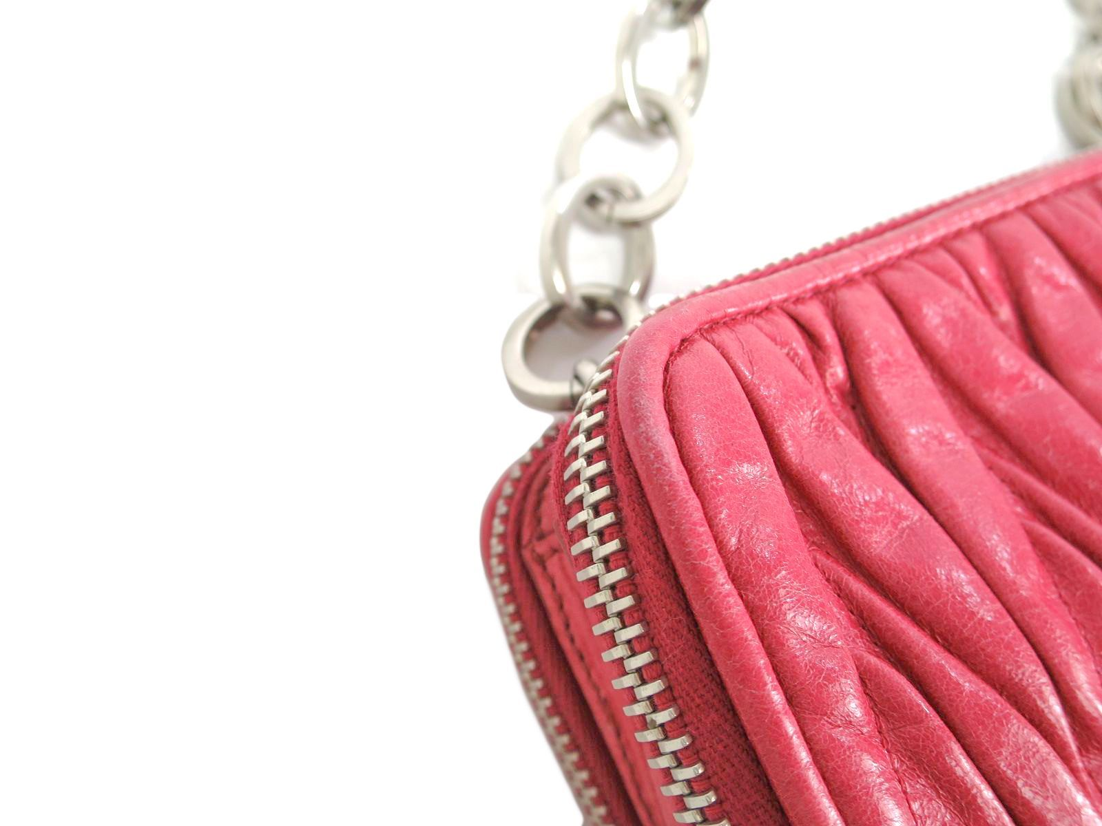 442d9dd8871b Miu Miu Materasse Chain Shoulder Bag MATELASSE  LUX PEONIA RT 0531 ...