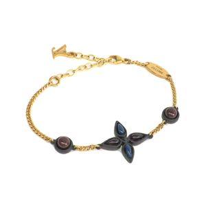 LOUIS VUITTON New Monogram Bracelet Carbon/Resin Gold M61157
