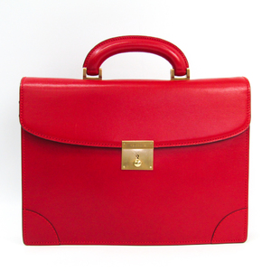 Valextra Men's Leather Briefcase Red