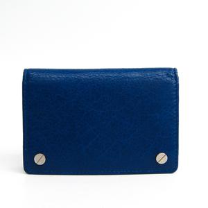 Balenciaga Leather Business Card Case Blue 311825