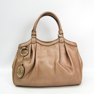 Gucci Sukey 211944 Women's Leather Handbag Bronze