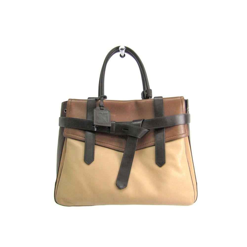 REED KRAKOFF Boxer Hand bag Leather Brown/Beige
