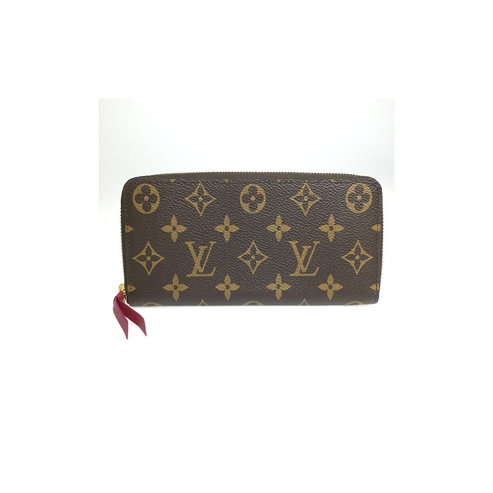 sports shoes 3da48 b7227 Louis Vuitton M60742 Monogram Portefeuille Clemence Leather Long Wallet  (bi-fold) Fuchsia | elady.com