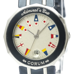 Corum Admiral's Cup Quartz Stainless Steel Women's Dress Watch 39.610.30
