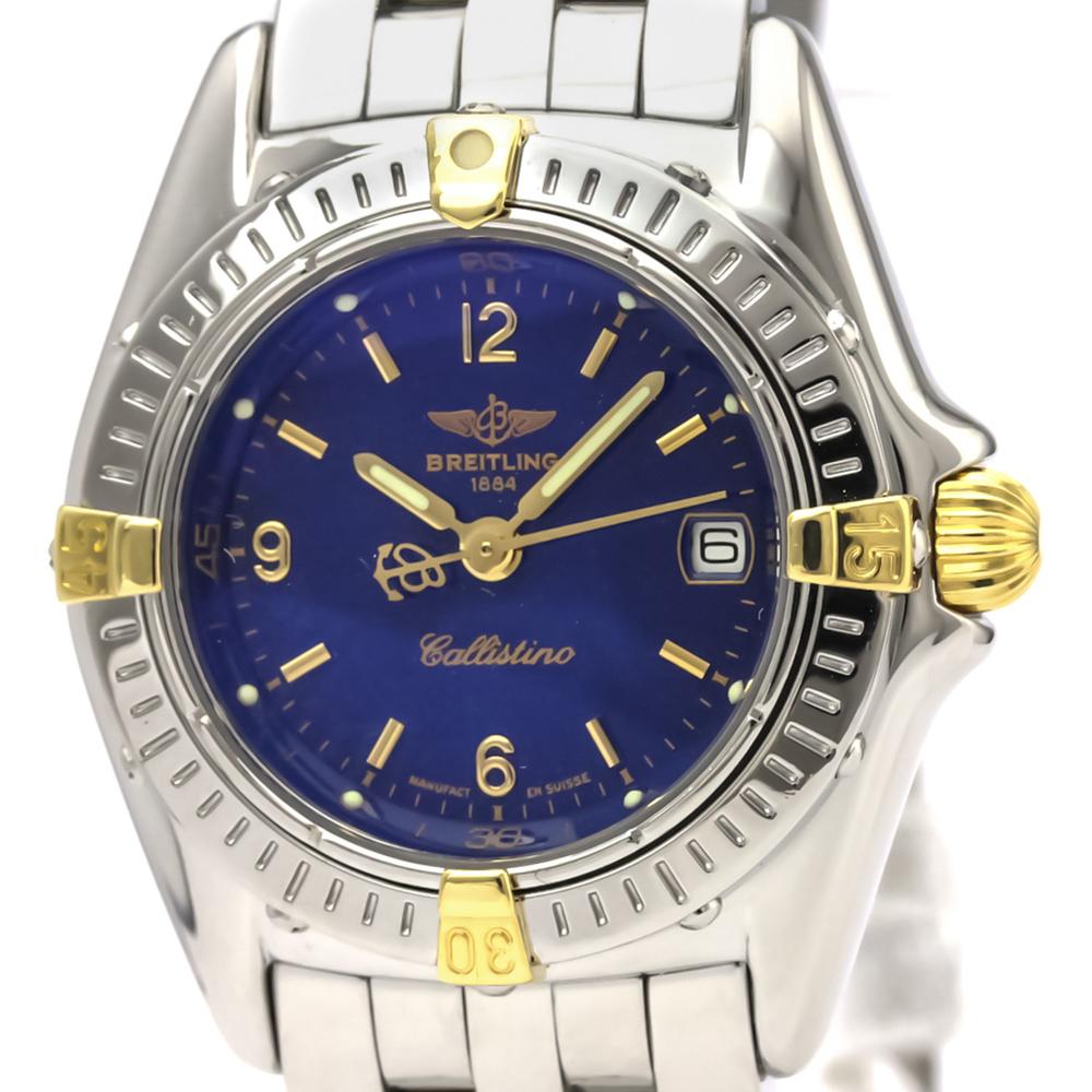 Breitling Callistino Quartz Stainless Steel,Yellow Gold (18K) Women's Sports Watch B52045