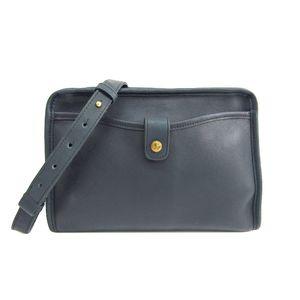 COACH Shoulder Bag Leather Navy 5255