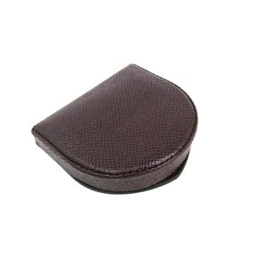 LOUIS VUITTON Coin Purse Taiga Leather Acajou M30376