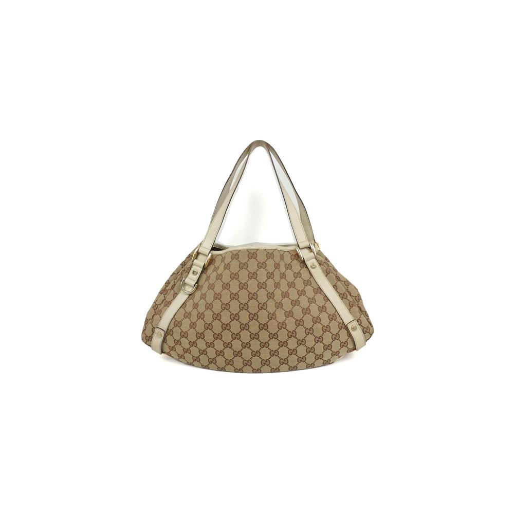 6849e2781ed Auth Gucci 130736 GG Canvas Tote Bag