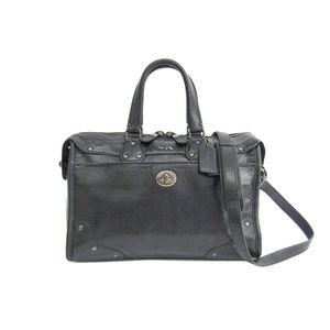 COACH Rhyder Satchel Soft Grain Leather Hand bag Black 33689