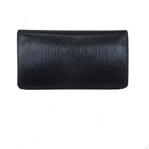ルイ・ヴィトン エピ ポルトシェキエ カルトクレディ/M63732  レザー 財布(二つ折り) ノワール