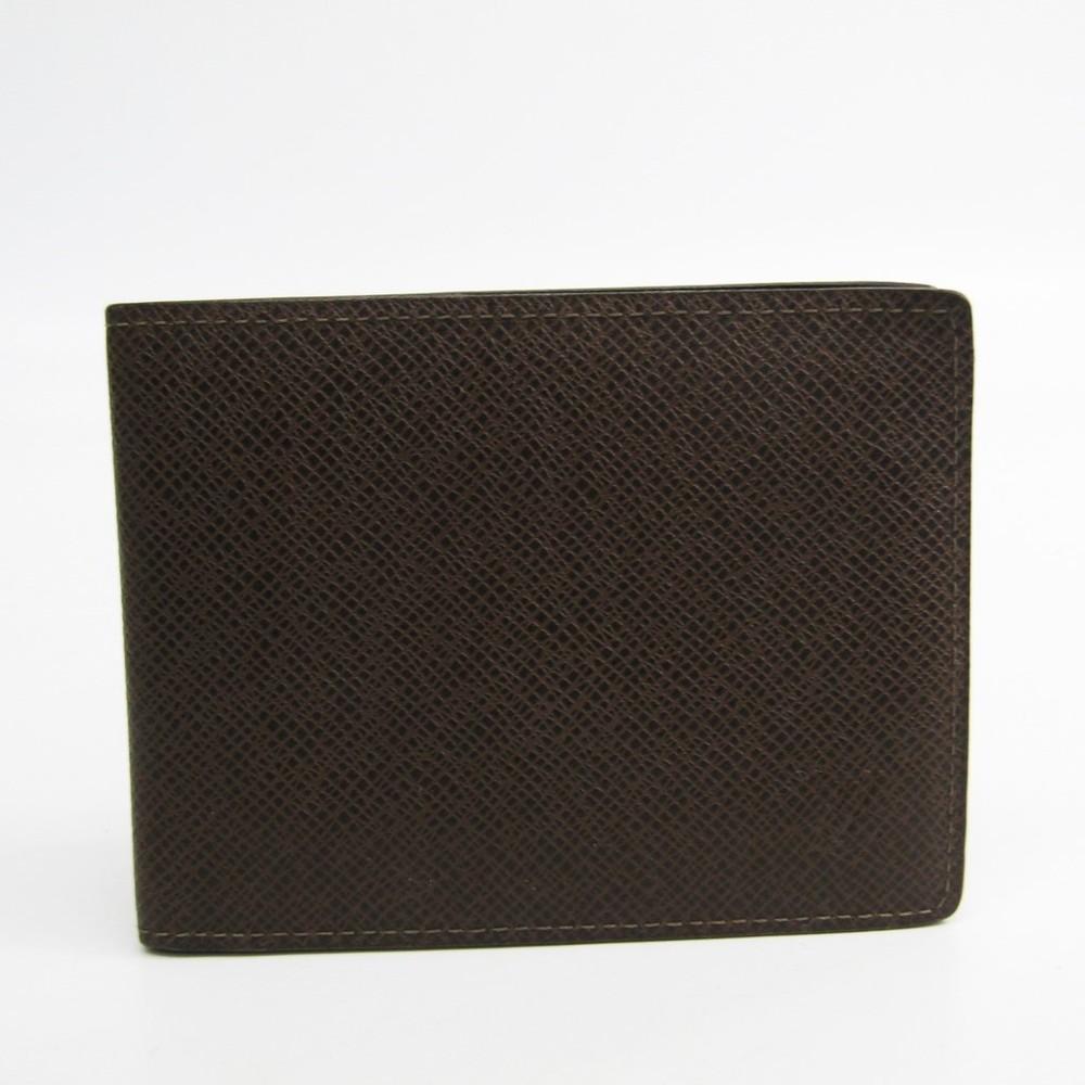 ルイ・ヴィトン(Louis Vuitton) タイガ ポルトフォイユ・コンパクト M32658 メンズ タイガ 札入れ(二つ折り) グリズリ
