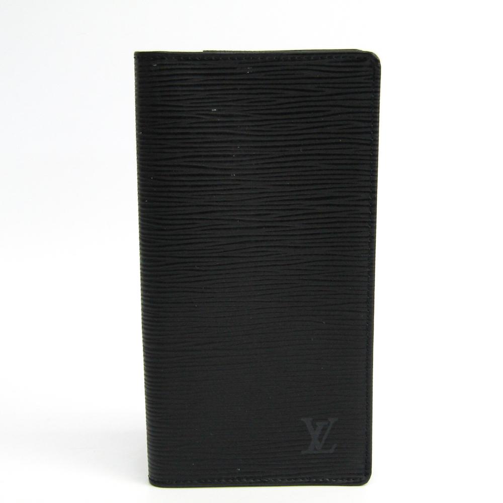 ルイ・ヴィトン(Louis Vuitton) エピ ポルトビエカルトクレディ円 M63212 メンズ エピレザー 長札入れ(二つ折り) ノワール