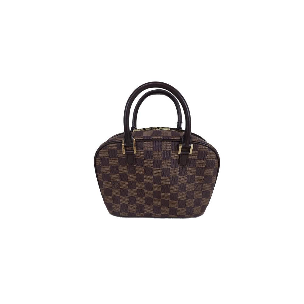 Auth Louis Vuitton Damier Sarria Mini N51286 Women s Handbag Ebene Canvas 4ab00b63a2